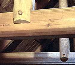 Stong beams notched and pegged