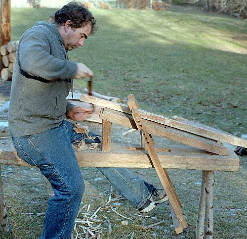 Hurstwic: Riving, a Viking-age woodworking technique