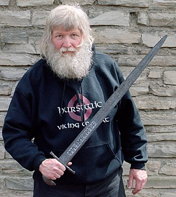 wearing a sword