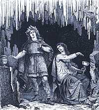 Odin and Gunnlod